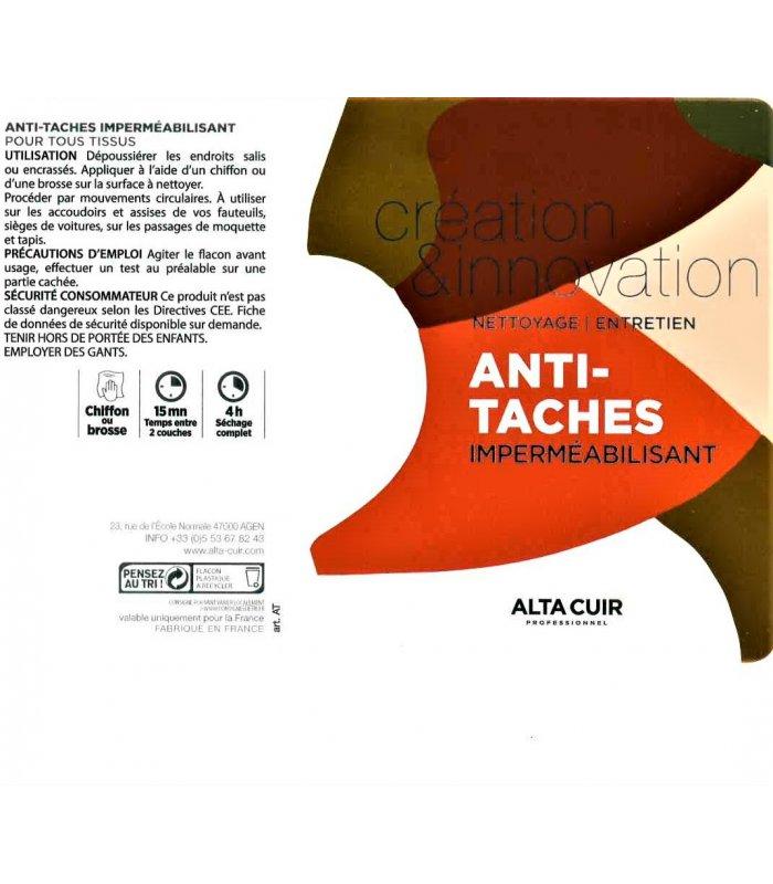 Anti taches imperméabilisant cuirs ou tissus