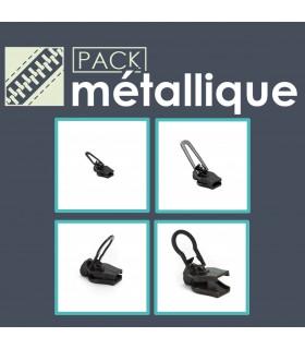 Pack cremalleras metálicas - cursores Zlideon.