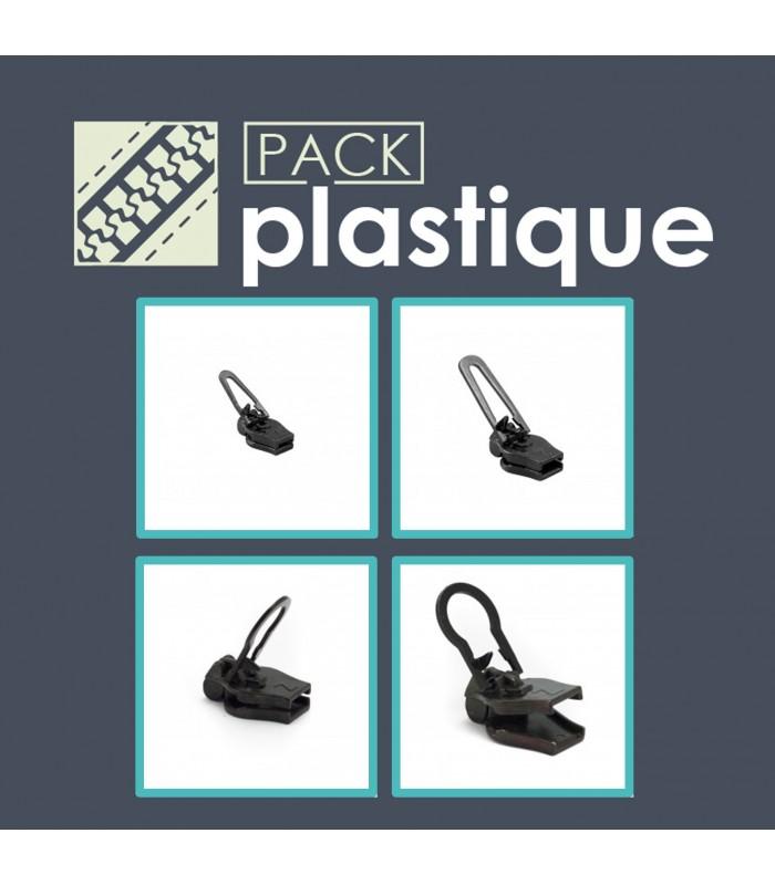 Pack cremalleras de plástico - cursores Zlideon