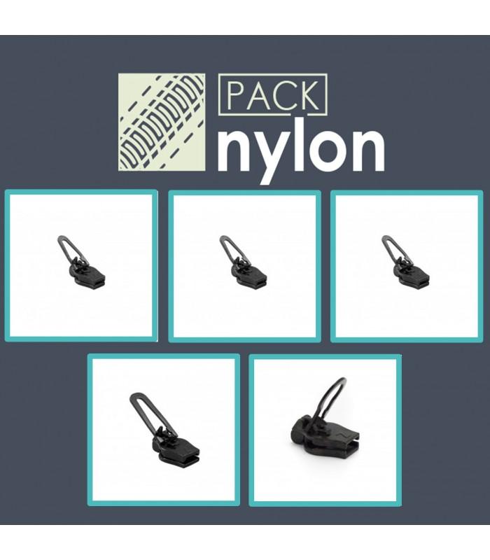 Pack para arreglar cremalleras de nylon espirales. Cursores Zlideon