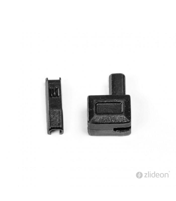 Boîtier/manchon d'arrêt de remplacement pour fermeture zip