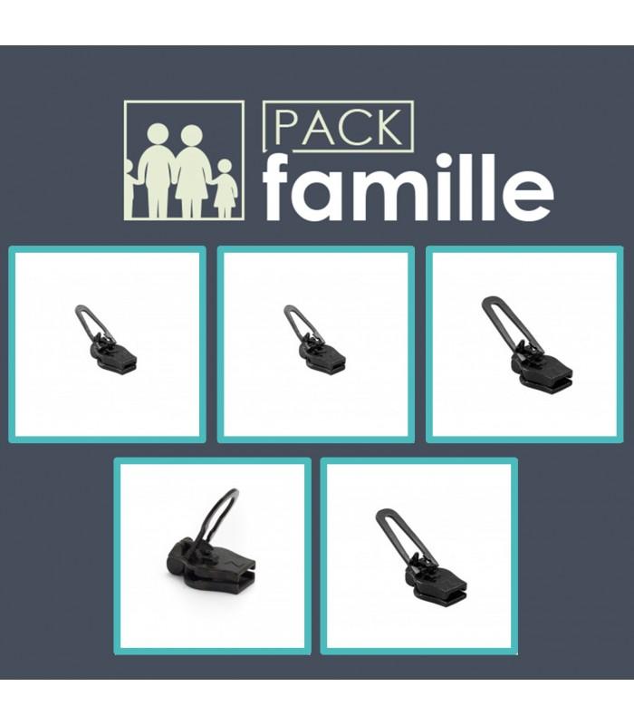 Pack réparation curseurs Zlideon pack famille nylon spiralée