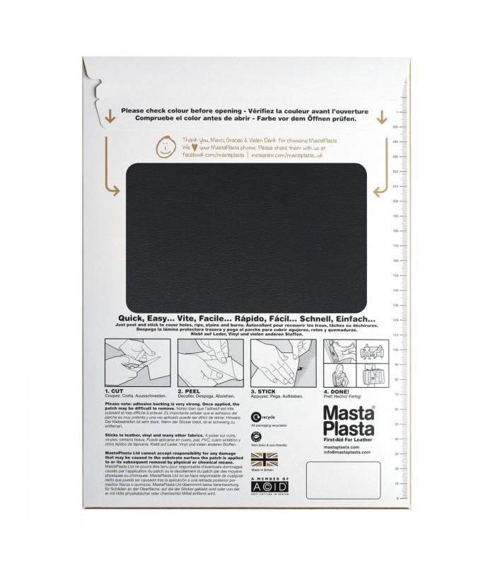 Patch Masta Plasta taille XL réparation cuir 20x28cm