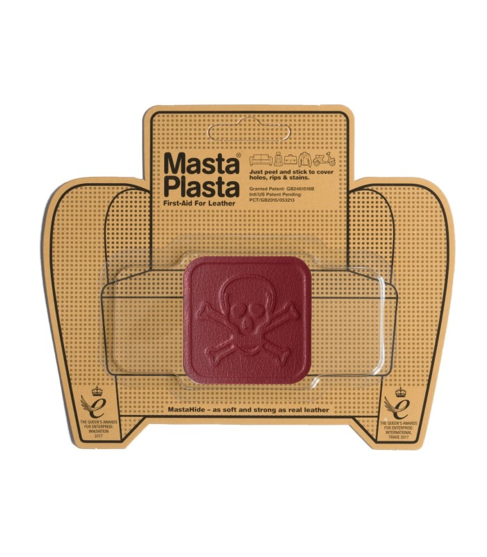 Patch Masta Plasta taille S réparation cuir 5x5cm tête de mort