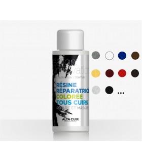 Resina coloreada para recubrimiento de cueros