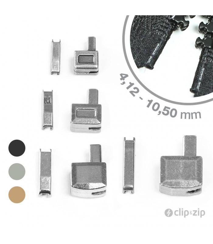 Pack Clip&Zip boîtier/manchon d'arrêt de remplacement pour fermeture