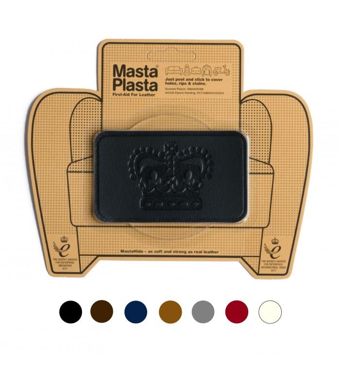 Patch Masta Plasta taille M réparation du cuir 10x6cm couronne royale