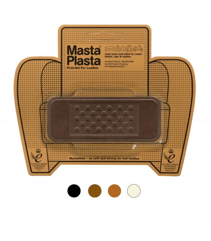 Patch Masta Plasta taille S réparation cuir suédé 10x4cm pansement