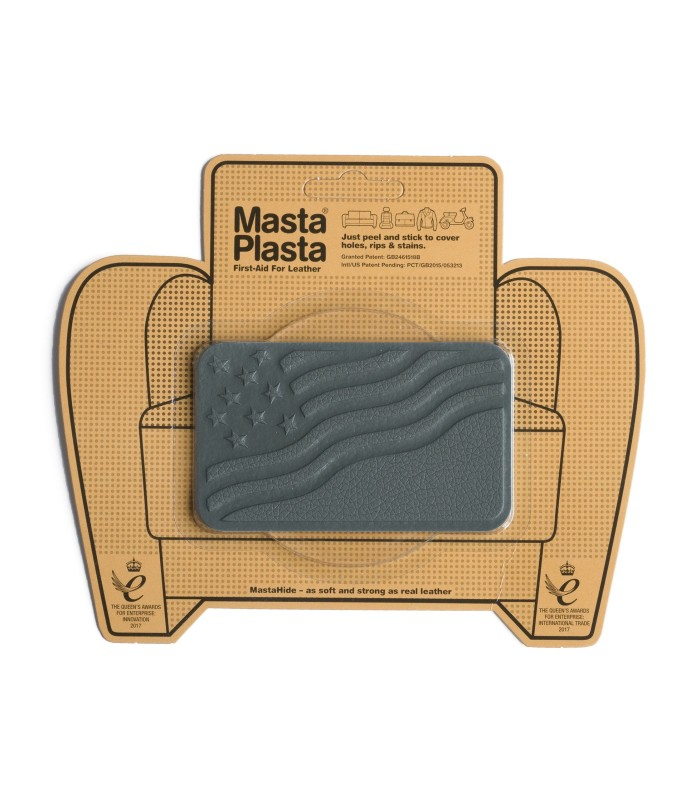 Patch Masta Plasta taille M réparation cuir 10x6cm drapeau USA