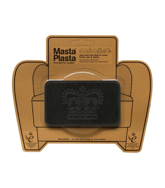 Patch Masta Plasta taille M réparation cuir suédé 10x6cm couronne royale