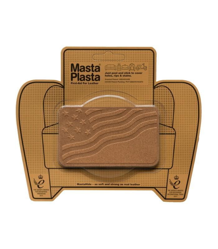 Patch Masta Plasta taille M réparation cuir suédé 10x6cm drapeau USA