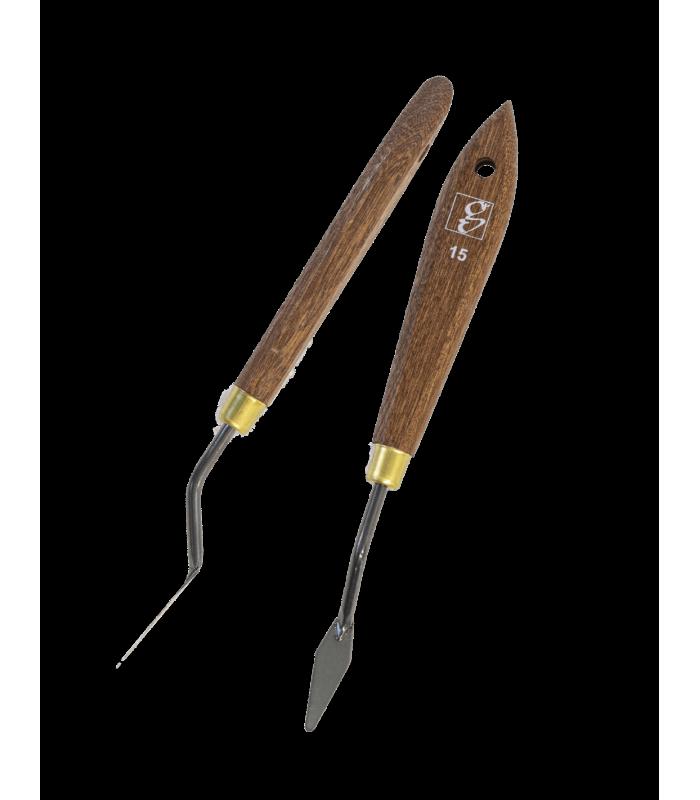 Spatule applicatrice souple pour mastic et colle cuir