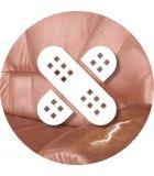 Parches adhesivos de reparación para las pieles y las imitaciones