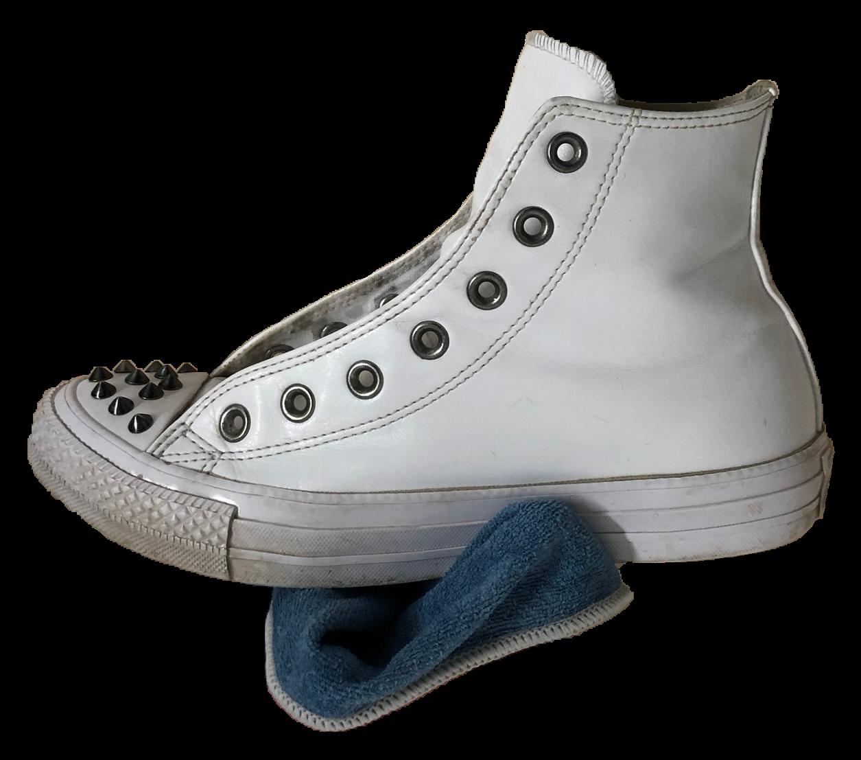 chaussure avec chiffon
