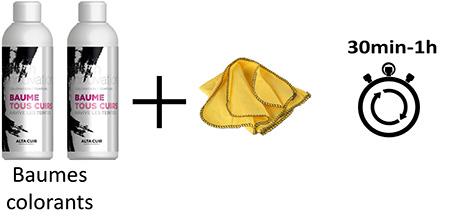 deux baumes colorants pour le cuir