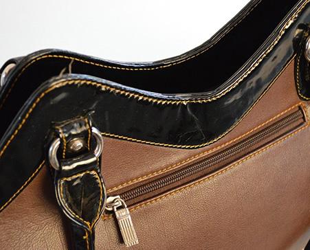 sac à main avec fermeture en nyon