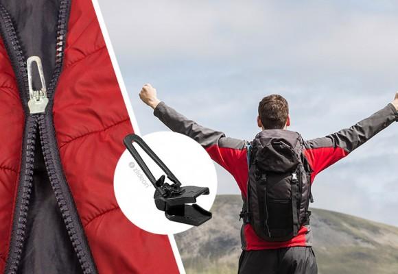 Las cremalleras en montaña, camping, alpinismo, esquí, trekking
